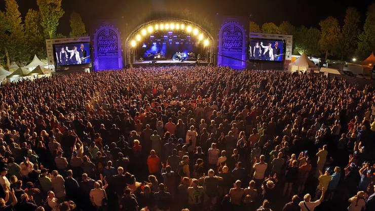 An der Magic Night 2018 auf dem Heitere Zofingen gab es mit 7000 Besuchern, hier beim abschliessenden Konzert von Gianna Nannini, einen neuen Zuschauerrekord.