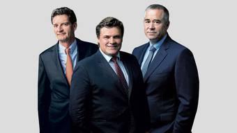 Die Gründer der Partners Group (von links): Urs Wietlisbach, Alfred Gantner und Marcel Erni.