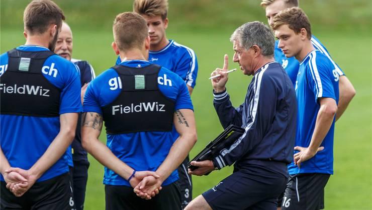 Roland Hasler diesen Sommer im Training mit der Mannschaft. Hanspeter Bärtschi