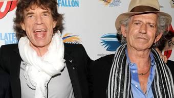 Seit 50 Jahren verbindet sie der Name Rolling Stones: Mick Jagger (l) und Keith Richards (Archiv)