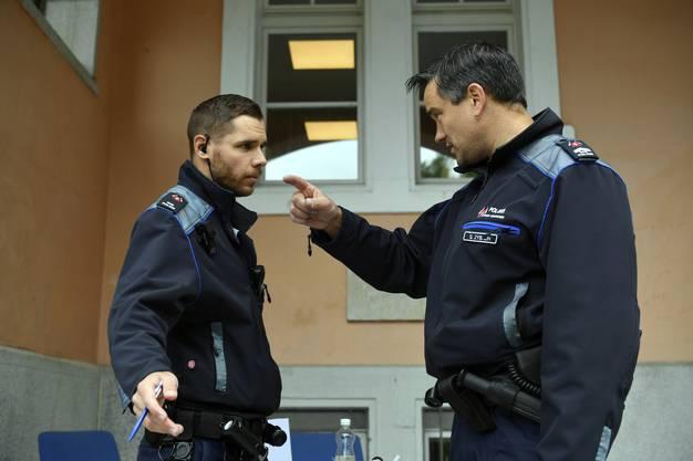Christoph Rüegger und Stefan Zybach von der Stadtpolizei Grenchen