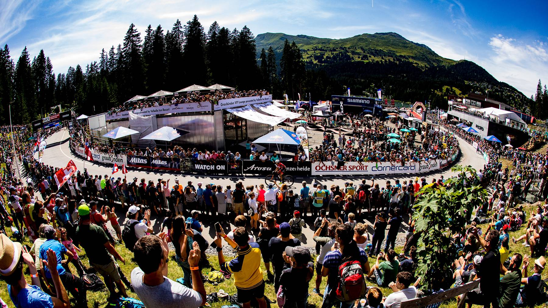 10'000 Zuschauer können am diesjährigen Bike Weltcup in der Lenzerheide dabei sein.