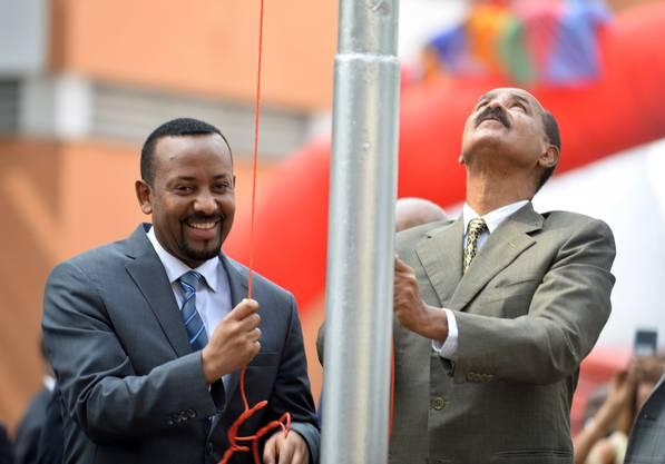 Gemeinsam für den Frieden: Nobelpreisträger und äthiopischer Präsident Abiy Ahmed und der eritreische Diktator Isayas Afewerki.