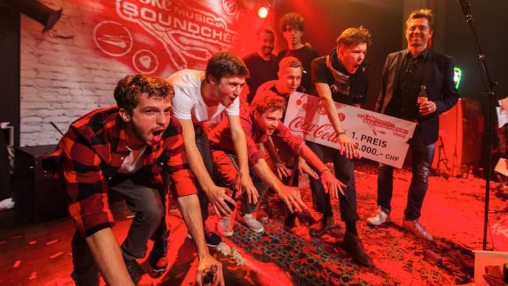 Die Badener Nachwuchsband hat den nationalen Musikwettbewerb «MyCokeMusic Soundcheck 2015» gewonnen.