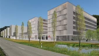 Diese Visualisierung zeigt, wie sich der Park Innovaare in Villigen dereinst präsentieren soll. ZVG