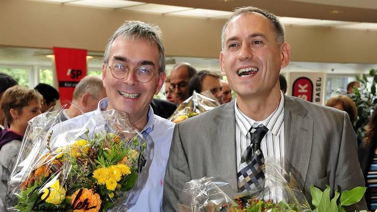 Im ersten Wahlgang wurde am 14. September 2008 Hans-Peter Wessels mit Christoph Brutschin in den Regierungsrat gewählt.