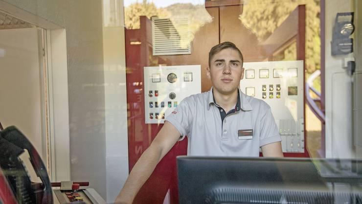 Cristiano Monteiro geniesst seinen Arbeitsplatz. «Es ist angenehm, von der Stadt weg zu sein», sagt er.