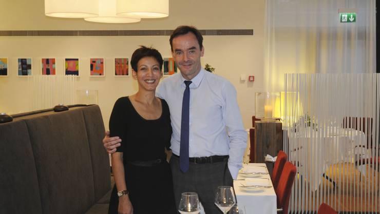 Landgasthof Riehen: Pierre Buess mit Lebenspartnerin Nora Dokhane