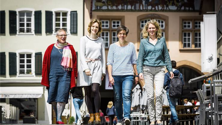 Zusammen arbeiten, das ist die Zukunft: Barbara Jordak, Romina Strebel, Karin Hostettler und Ursi Huber (v.l.).Chris Iseli