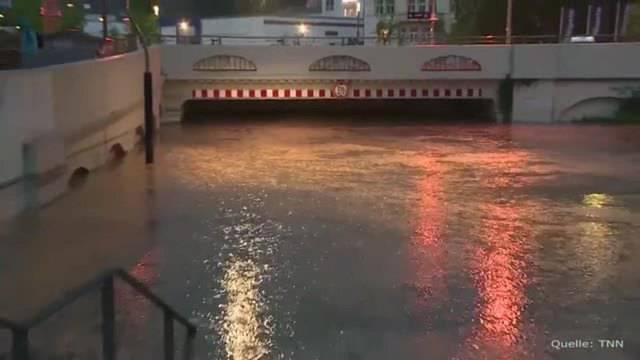 Zerstörerische Überschwemmungen in Süddeutschland