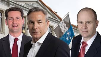 Stefan Giezendanner, Adrian Amstutz, Thomas Hurter (von links).