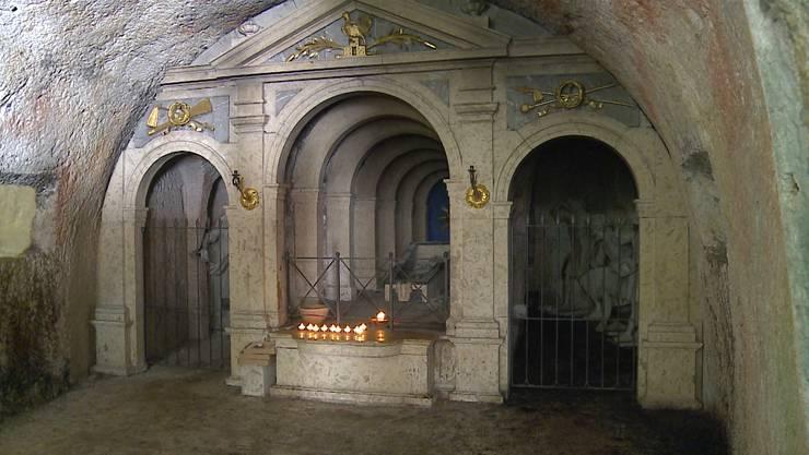 Die Verenakapelle nach dem Brand vom 1. März
