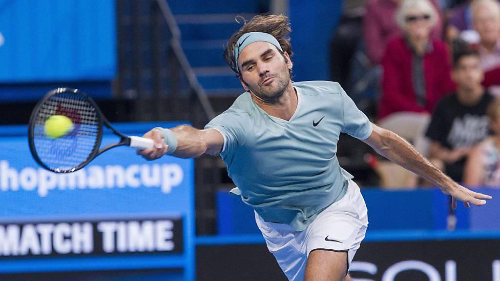 Roger Federer musste sich vom Hopman Cup in Perth verabschieden