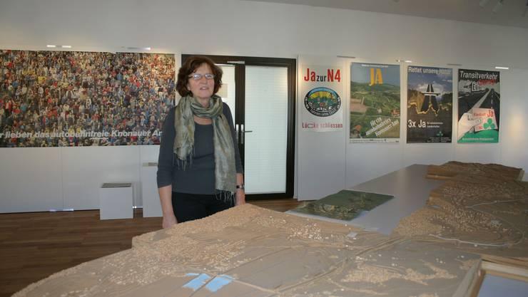 Ursula Grob, die Ausstellungsmacherin. (Bild Werner Schneiter)