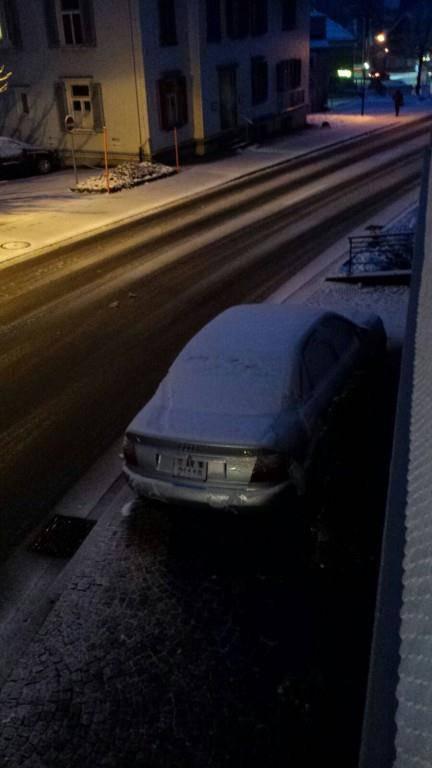 In Rehetobel bleibt der Schnee liegen (© Leserreporter)