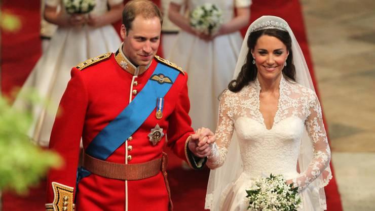 Beim festlichen Abendessen nach der Hochzeit von William und Kate gab es unter anderem Lachs und Lamm. (Archivbild)