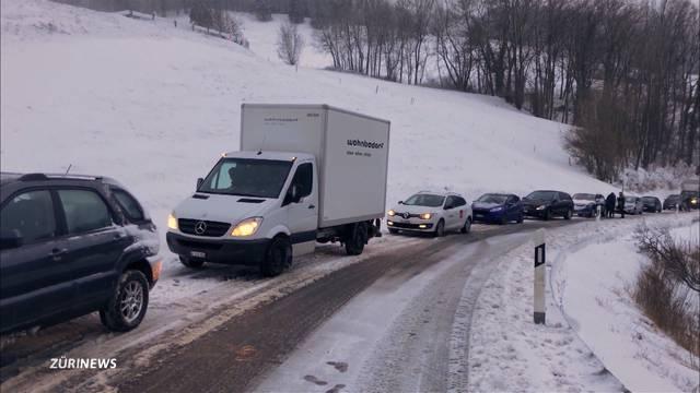 Erneut Unfälle wegen Schnee