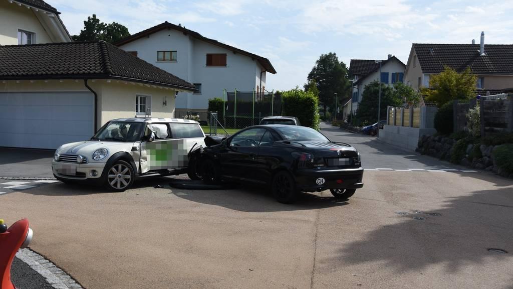 Bei der Kollision in Diepoldsau wurde eine junge Frau verletzt.