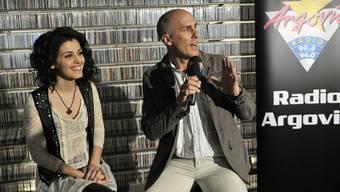 Katie Melua zu Besuch bei Radio Argovia