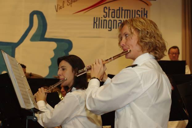 Auch Flötistinnen hat die Stadtmusik Klingnau in ihren Reihen