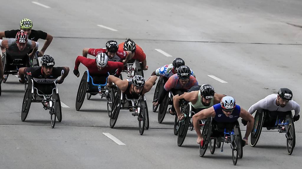 Marcel Hug mischte bei den Rollstuhlsportlern in Chicago einmal mehr ganz vorne mit