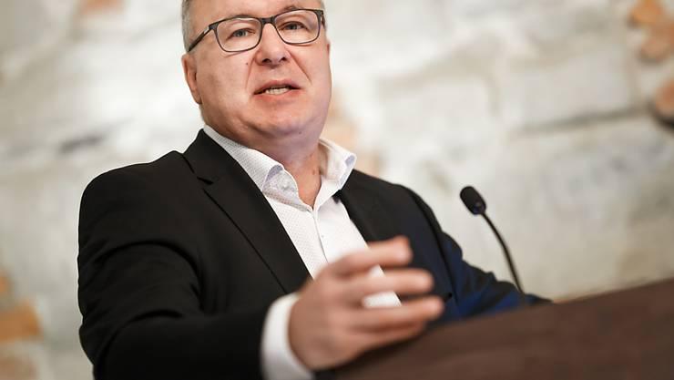 Mit Pierre-Yves Maillard präsidiert nun ein Mann den Schweizerischen Gewerkschaftsbund (SGB), der schon früh in seiner politischen Karriere mit Arbeitskämpfen zu tun hatte. (Archivbild)