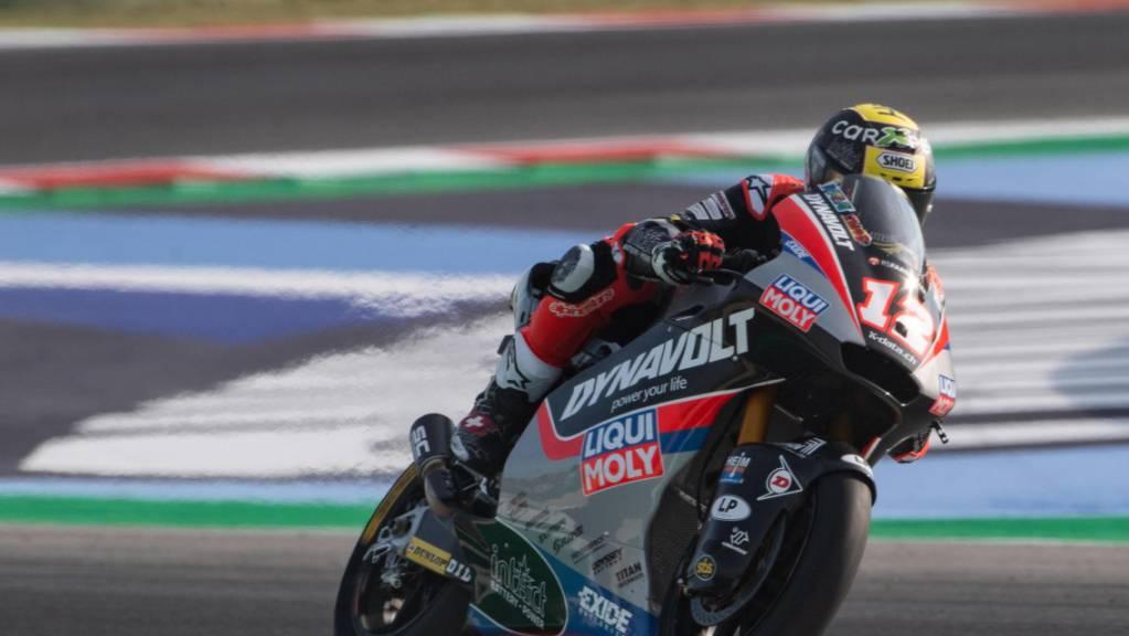 Tom Lüthi sicherte sich in Alcañiz eine gute Ausgangslage fürs Moto2-Rennen vom Sonntag