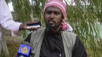 Der Sprecher der Schabab-Milizen Ali Mohamud Rage droht Kenia mit Selbstmordattentaten