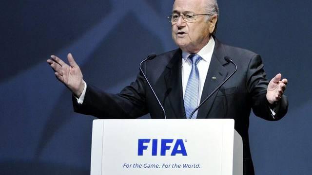 "Sepp Blatters FIFA erhält den Negativpreis ""Verschlossene Auster"" (Archiv)"