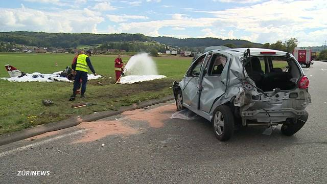 Doppel-Crash in Holziken AG