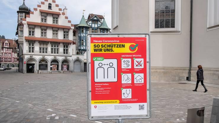 Kampagne des Bundesamt für Gesundheit (BAG) gegen die weitere Ausbreitung des Coronavirus.