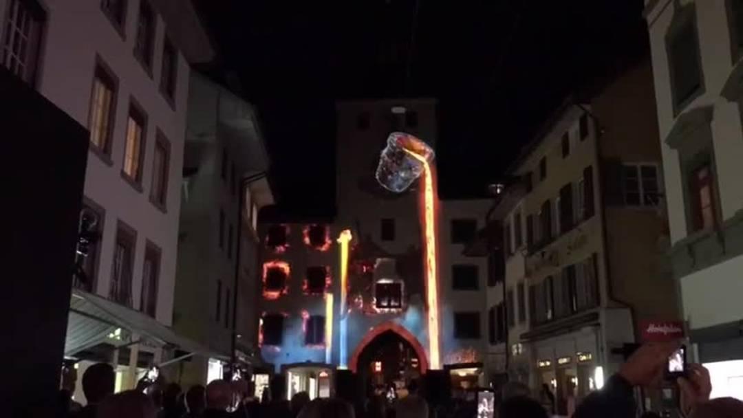 Die Lichtshow am Stadtfest Liestal 2019