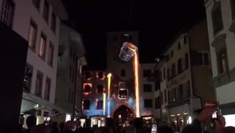 Die Lichtshow ist eines der Highlights am Stadtfest Liestal 2019.