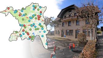 Restaurantschliessungen und -öffnungen im Aargau 2017