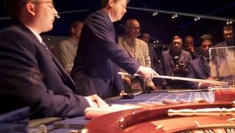 Roulette-Tisch im Grand Casino in Baden (Archiv)