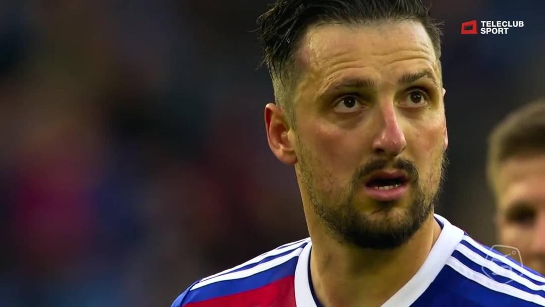 18. Minute: Tor auf Penalty durch Zdravko Kuzmanovic (FC Basel 1893)