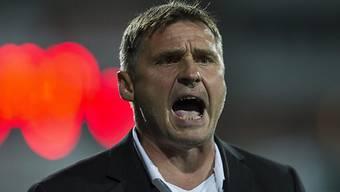 Wils Trainer Axel Thoma mit seinem Team nicht zufrieden.