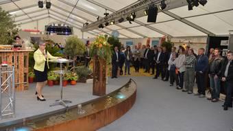 Eröffnung Gwärbi 2016 mit Gemeindepräsidentin Barbara Leibundgut