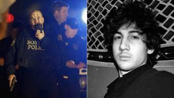 Die Polizei jagt Dhokhar Tsarnaev.