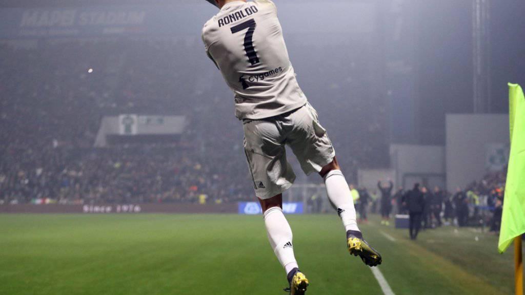 Cristiano Ronaldo gehörte zu Juves Torschützen