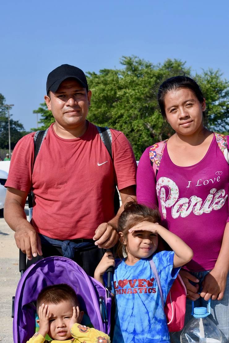 Familie Arguera aus der Karawane.