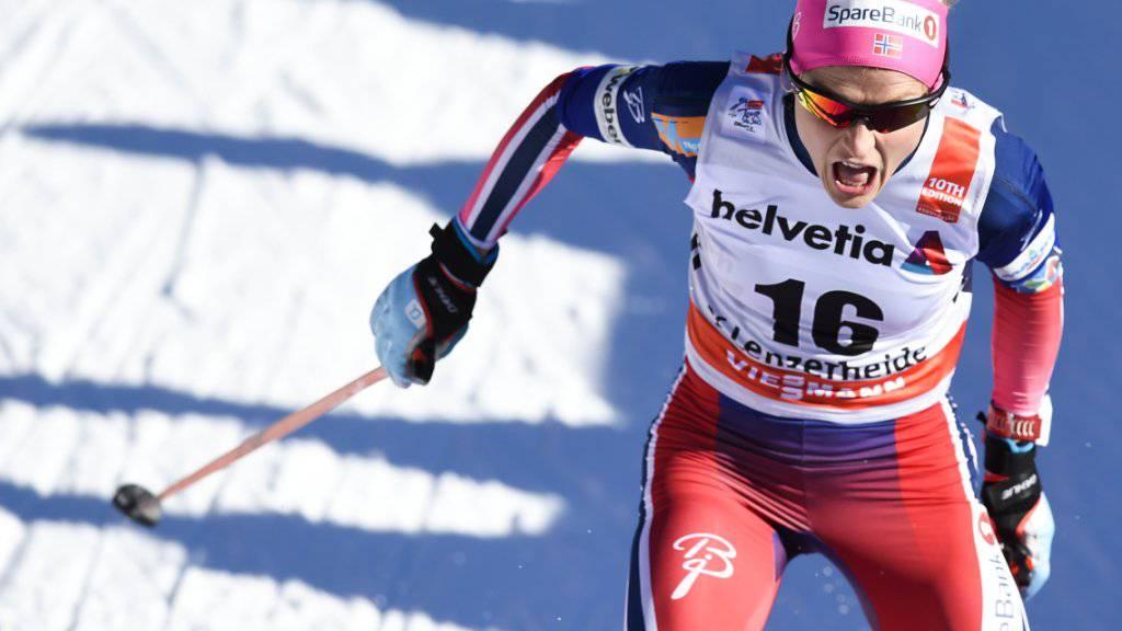 Eine Klasse für sich: Therese Johaug gewann über 15 km im klassischen Stil überlegen