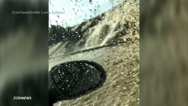 Autobahn A1 infolge Überschwemmung gesperrt