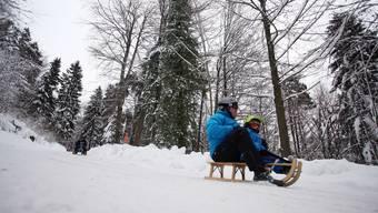 Auf so viel Schnee wartet der Weissenstein dieses Jahr noch.