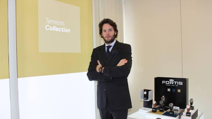 Marketingchef Max Wedel zeichnet für das neue Corporate Design