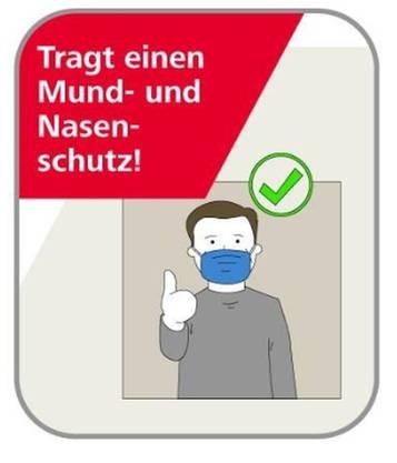 So weisen die ÖBB die Passagiere auf die Maskenpflicht hin.