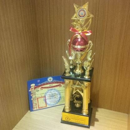 Grandmaster Trophy zur Auszeichnung von Grossmeister Martin Sewers Sieg in der Grossmeister Kategorie