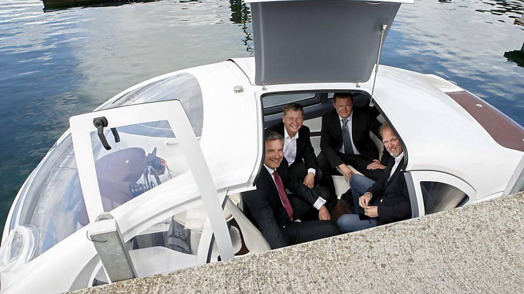Der Test des Wassertaxis SeaBubbles auf dem Genfersee fiel am Freitag ins Wasser.