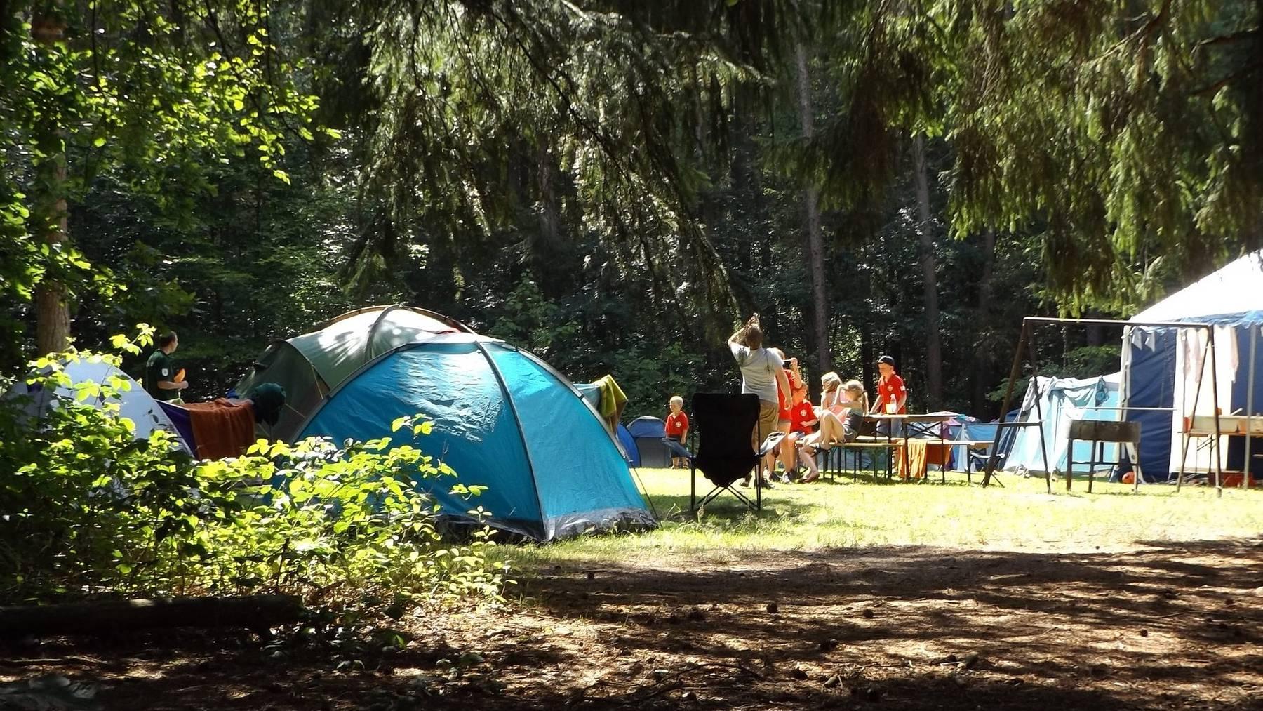 Lagertelefon - Camping, Zelt