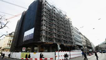 Die Baustelle im ehemaligen Bally-Haus an der Zürcher Bahnhofstrasse.